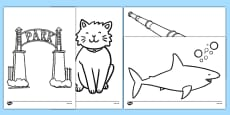 Is That a Shark? Colouring Sheets