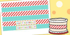 Circus Themed Birthday Party Cake Ribbon