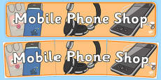 Mobile Phone Shop Role Play Display Banner