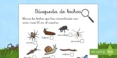 Lista de comprobación: La búsqueda de los bichos