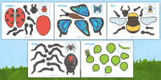 Minibeasts Split Pin Characters