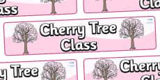 Cherry Tree Themed Classroom Display Banner