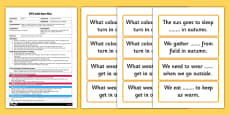 Autumn Slam Game EYFS Adult Input Plan and Resource Pack