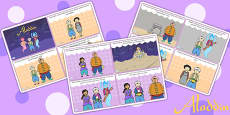 Aladdin Story Sequencing Cards