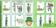 * NEW * ROI St. Patrick's Day Aistear Role Play Badges