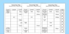 Converting Time Activity Sheet Polish Translation