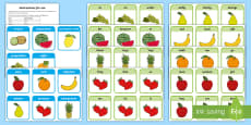 * NEW * Fruit Salad Sentences Cut Outs