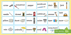 * NEW * Everyday Objects Word Association Game