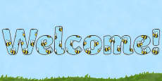Busy Bee Welcome Display Lettering