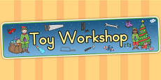 Australia Toy Workshop Display Banner