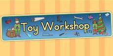 Australia Toy Workshop Display Banner