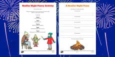 Bonfire Night Poetry Activity