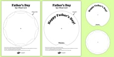 Father's Day Spin Wheel Card