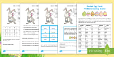 Easter Egg Hunt Problem Solving Game
