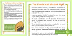 The Cicada and the Ant Myth