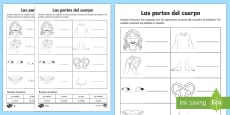 My Body Parts Activity Sheet Spanish