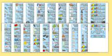 Classroom Equipment Tray Labels English/Spanish