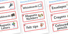 Ladybird Themed Editable Writing Area Resource Labels