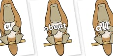 100 High Frequency Words on Platypus to Support Teaching on The Great Pet Sale