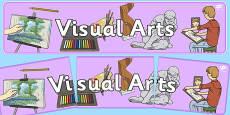 Visual Arts Display Banner NZ