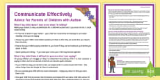 Effective Communication: Children with Autism Adult Guidance