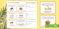 Easter Inference Reading Activity French