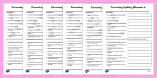 Year 5 Correct the Spelling Mistakes Worksheets