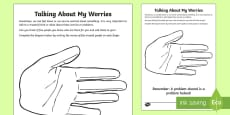 Talking About My Worries  Activity Sheet