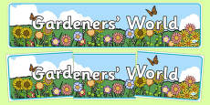 Gardener's World Display Banner