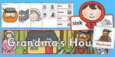 Little Red Riding Hood Grandma's House Role Play Pack