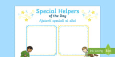 Special Helpers of the Day Poster English/Romanian