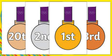 The Olympics Ordinal Numbers on Medals