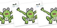 100 High Frequency Words on Frogs