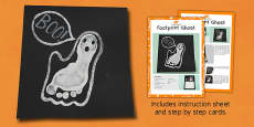 Footprint Ghost Craft Instructions