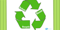 Eco And Recycling Reduce Reuse Recycling Poster
