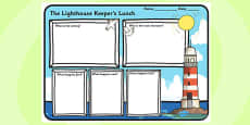 Book Review Writing Frame to Support Teaching on The Lighthouse Keeper's Lunch