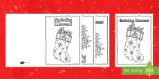 Mindfulness Colouring Christmas Cards Welsh