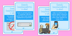 Internet Safety Display Posters Polish