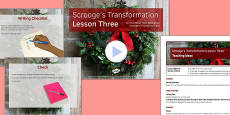 A Christmas Carol Lesson Pack 7: Scrooge's Transformation 3 - Stave Five