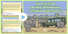 Retrieve and Record Information from Non Fiction Morning Task Explanation PowerPoint