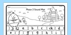Humpty Dumpty Themed Phase 2 Sound Mat