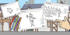 Dick Whittington Colouring Sheets
