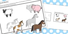 Workstation Pack: Animal Matching Activity - Set 1