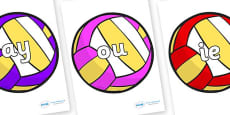 Phase 5 Phonemes on Volleyballs