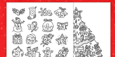 Christmas Mindfulness Colouring Advent Calendar