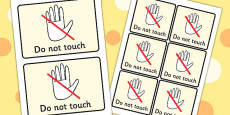Do Not Touch Visual Support Cards