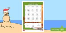 Christmas Food Around the World Word Search