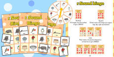 r Sound Bingo Game with Spinner