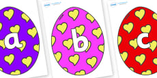 Phoneme Set on Easter Eggs (Hearts)
