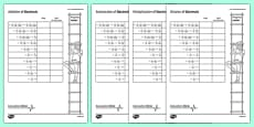 Calculation Clinic Student Self-Assessment Record Decimals